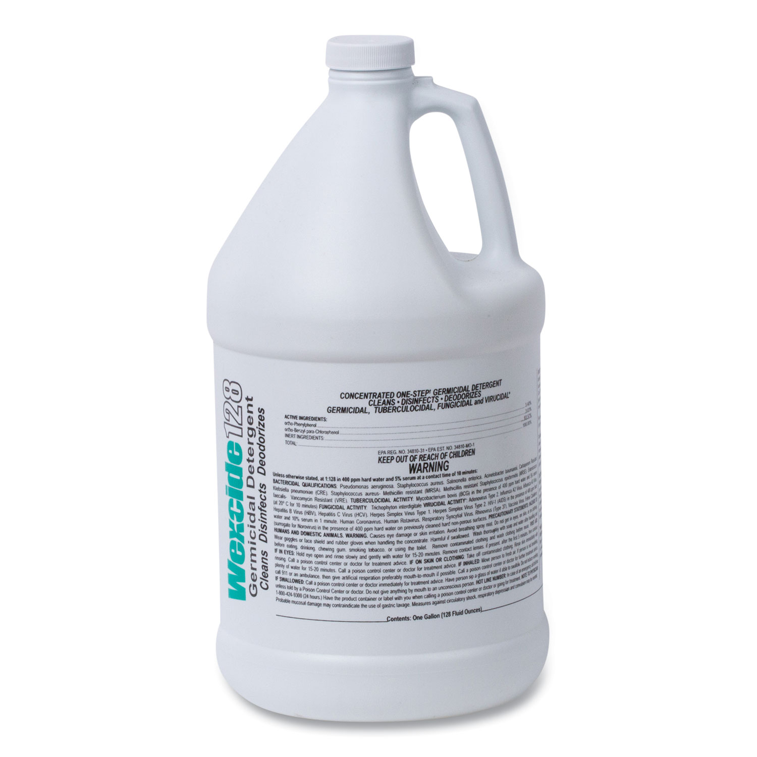 Wexford Labs Wex-Cide Concentrated Disinfecting Cleaner, Nectar Scent, 128 oz Bottle, 4/Carton