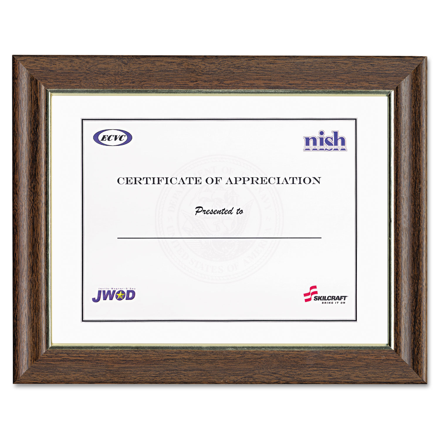 Style B Vinyl Documentcertificate Frame By Abilityone Nsn9031843