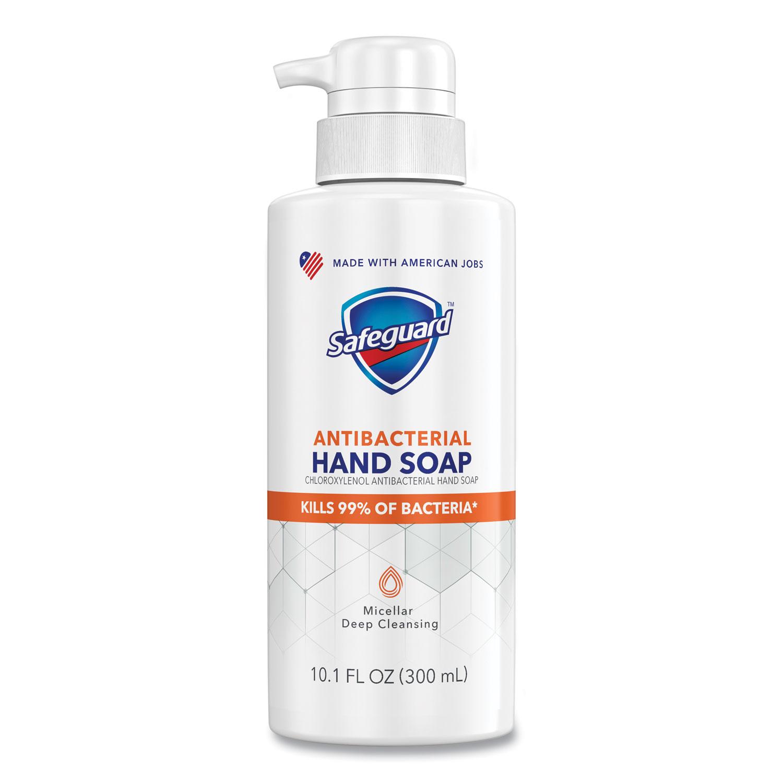 Safeguard Antibacterial Liquid Hand Soap, Fresh Clean Scent, 10.1 oz Pump Bottle