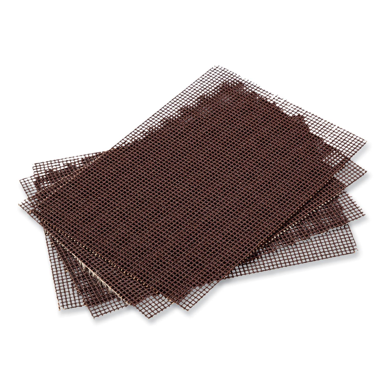 AmerCareRoyal® Griddle-Grill Screen, Aluminum Oxide, Brown, 4 x 5.5, 20/Pack, 10 Packs/Carton