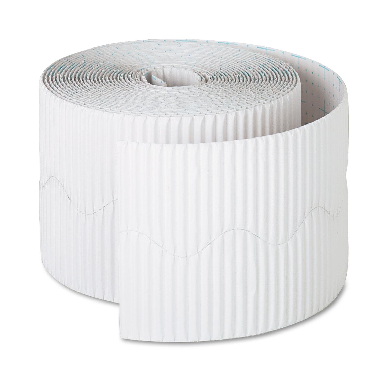 """Bordette Decorative Border, 2 1/4"""" x 50' Roll, White"""
