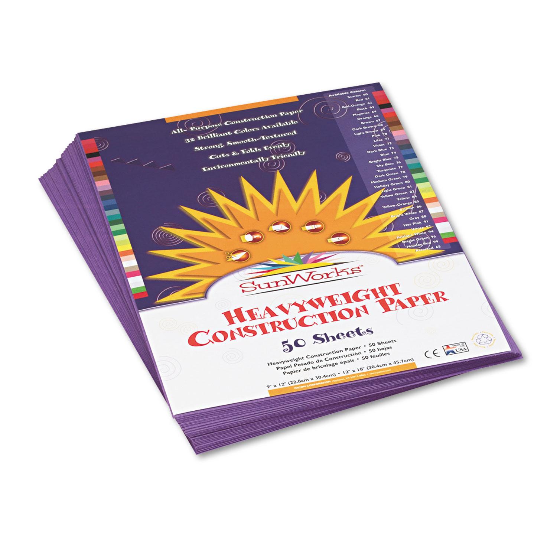 Construction Paper, 58lb, 9 x 12, Violet, 50/Pack