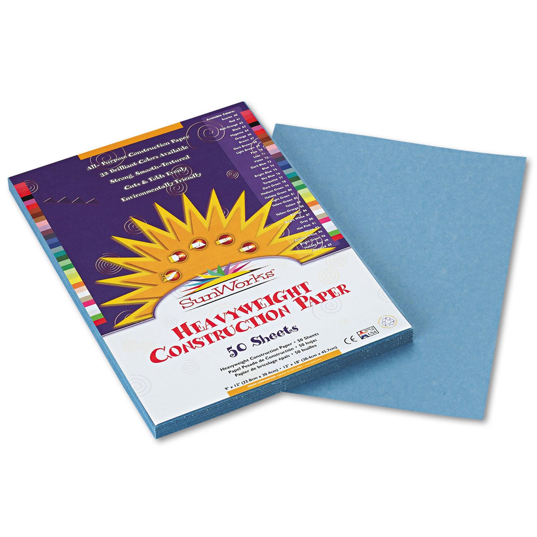 Construction Paper, 58lb, 9 x 12, Sky Blue, 50/Pack