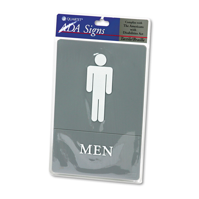 Ada Sign Men Restroom Symbol W Tactile Graphic Molded