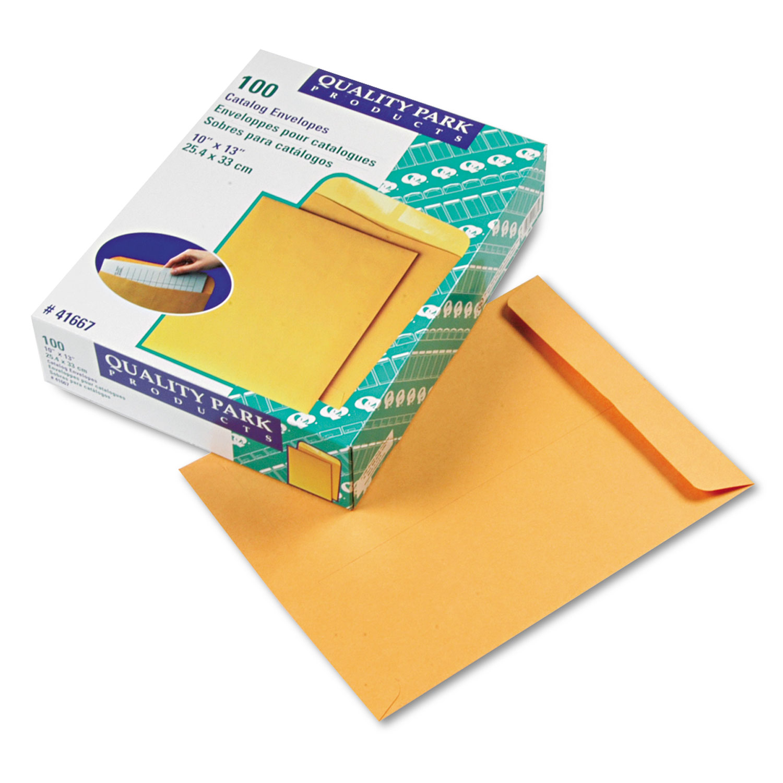 Catalog Envelope, 10 x 13, Brown Kraft, 100/Box - Goddess