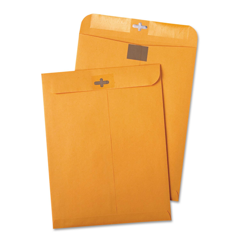 Postage Saving ClearClasp Kraft Envelope, #97, Cheese Blade Flap, ClearClasp Closure, 10 x 13, Brown Kraft, 100/Box