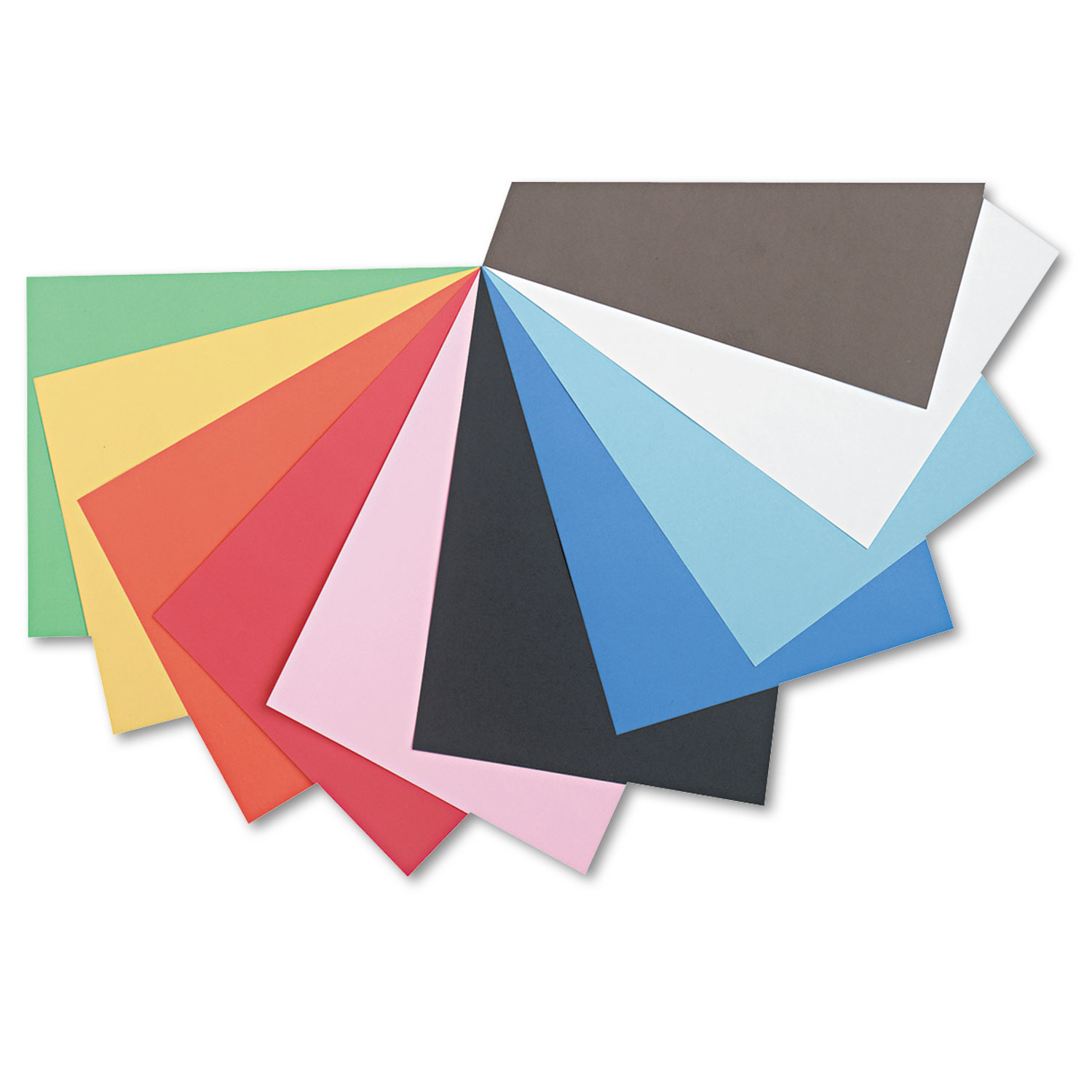 Tru-Ray Construction Paper, 76lb, 12 x 18, Assorted Standard Colors, 50/Pack