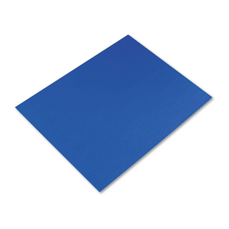 Four-Ply Railroad Board, 22 x 28, Dark Blue, 25/Carton