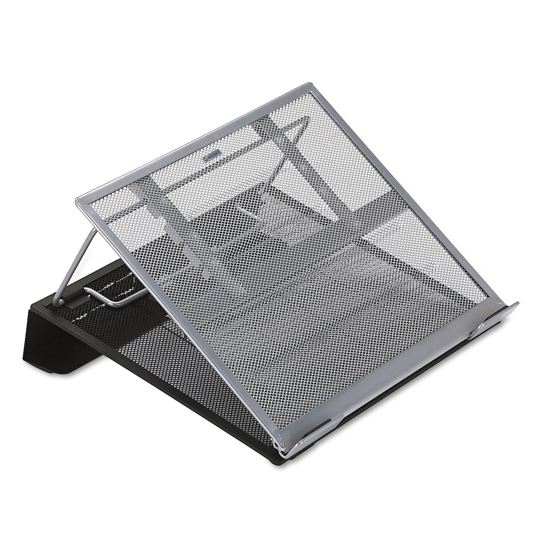 Laptop Stand/Holder, 13w x 11 3/4d x 6 3/4h, Black/Silver