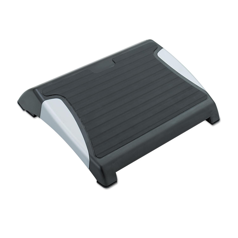 Restease Adjustable Footrest, 15.5w x 13.75d x 3.25 to 5h, Black/Silver