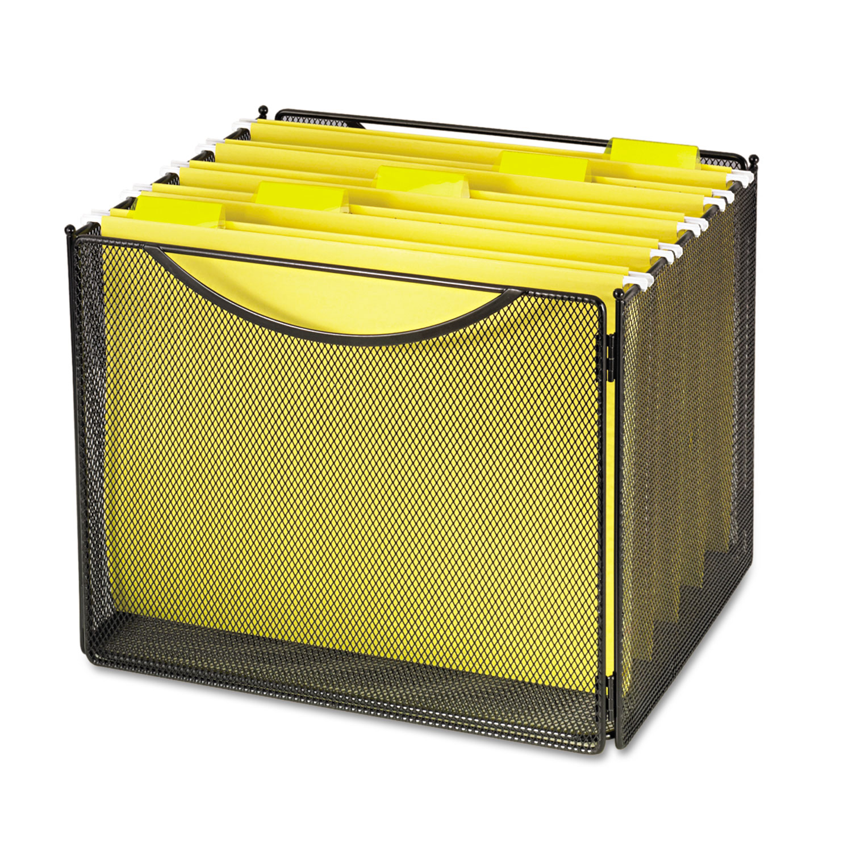 Desktop File Storage Box Steel Mesh 12 1 2w X 11d X 10h