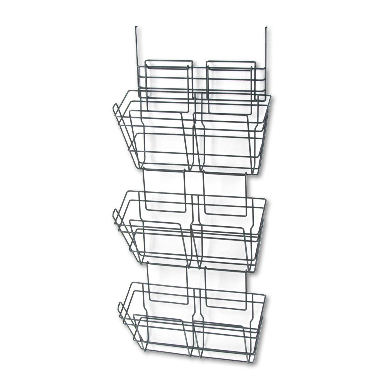 Panelmate Triple File Basket Organizer 15 1 2 X 29 1 2 Charcoal Gray