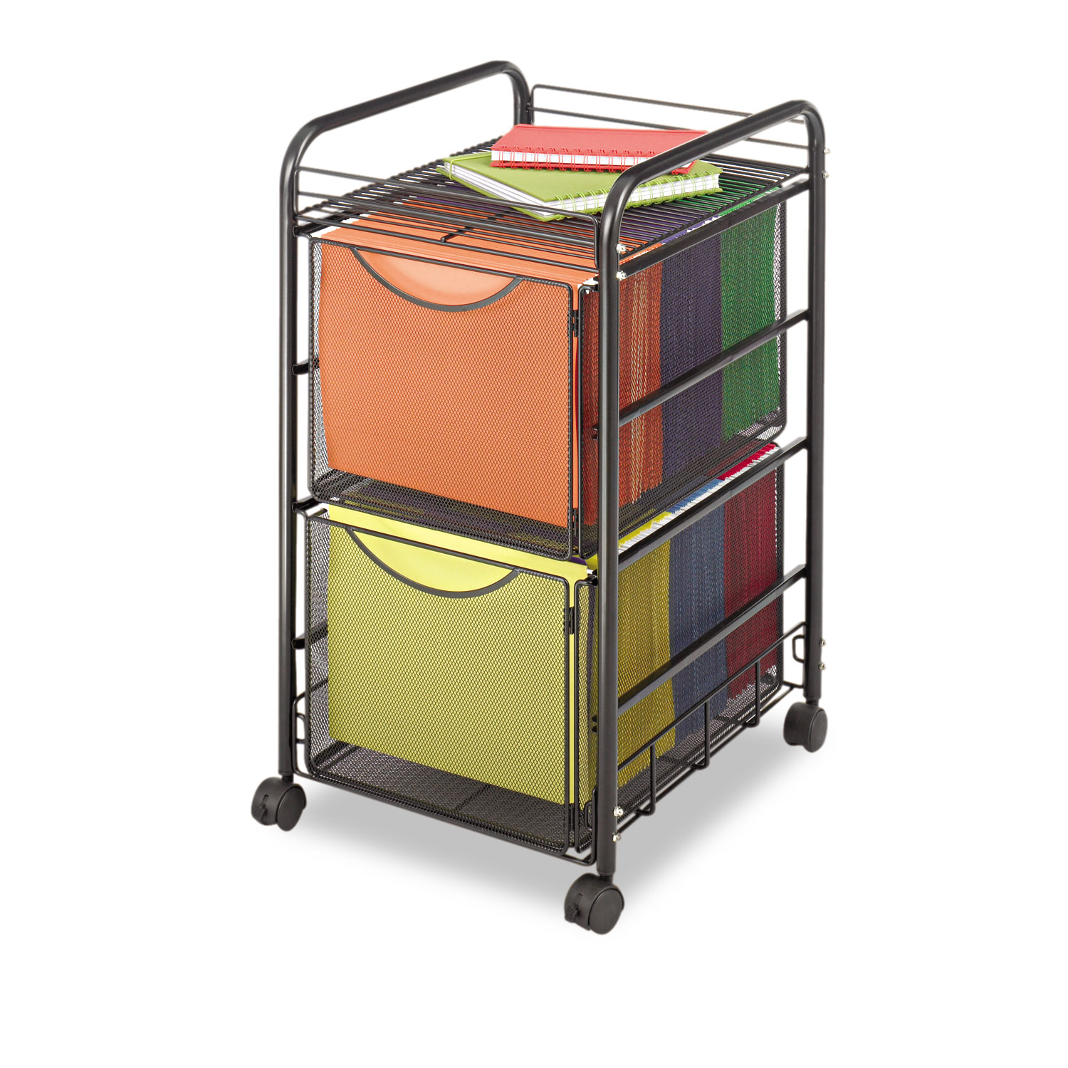 Onyx Mesh Mobile Double File By Safco 174 Saf5212bl