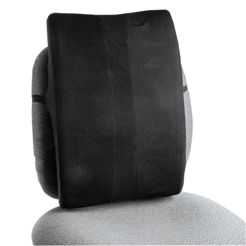 Remedease Full Height Backrest, 14w x 3d x 19.5h, Black SAF71301