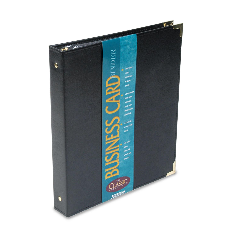 Classic Vinyl Business Card Binder by Samsill® SAM81080 ...