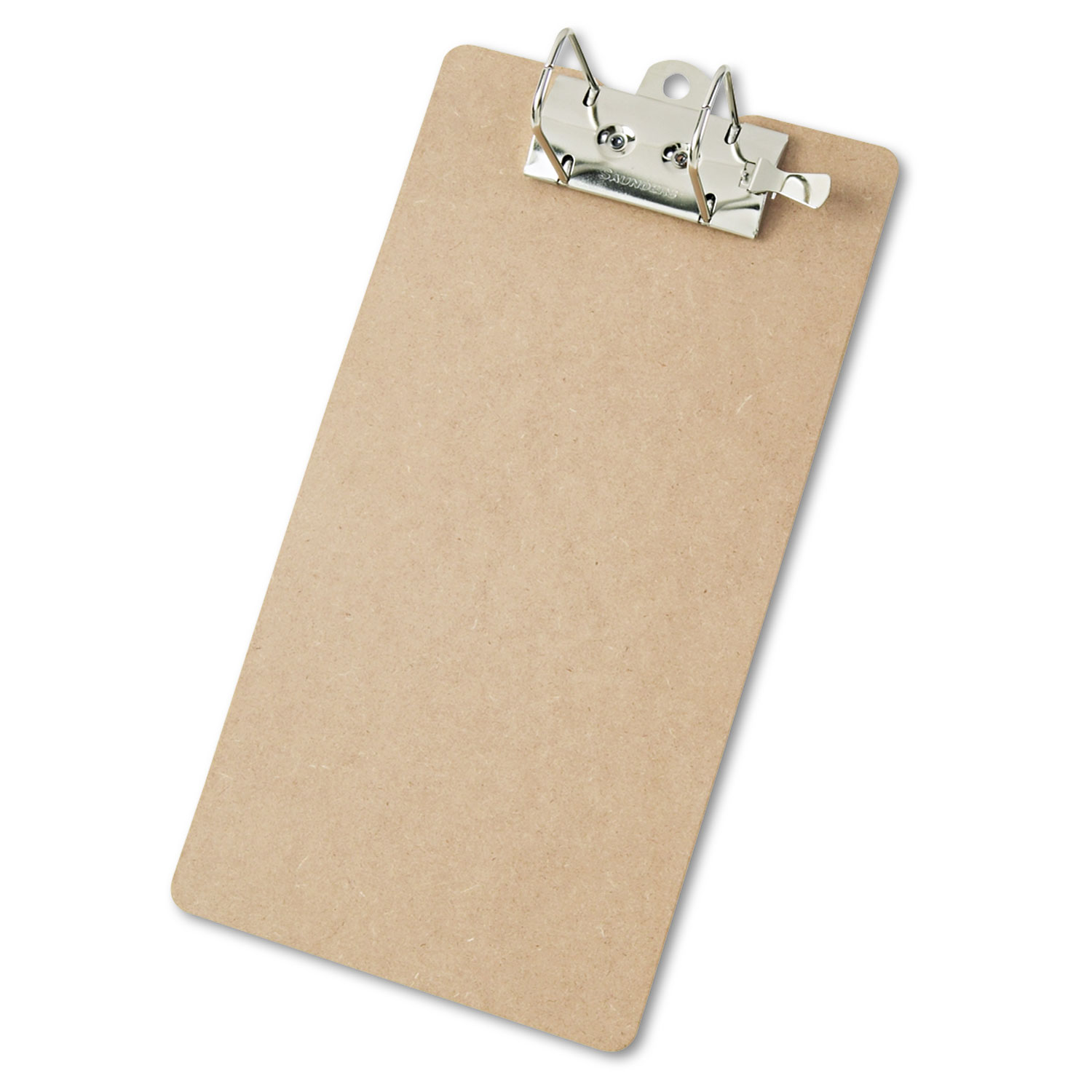 """Recycled Hardboard Archboard Clipboard, 2"""" Clip Cap, 8 1/2 x 14 Sheets, Brown"""
