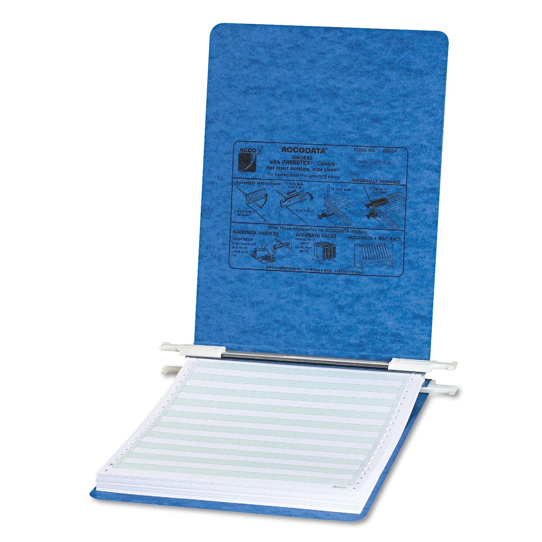 "PRESSTEX Covers with Storage Hooks, 2 Posts, 6"" Capacity, 11 x 8.5, Light Blue"