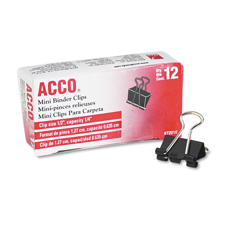 ACC72010 Acco Mini Binder Clips