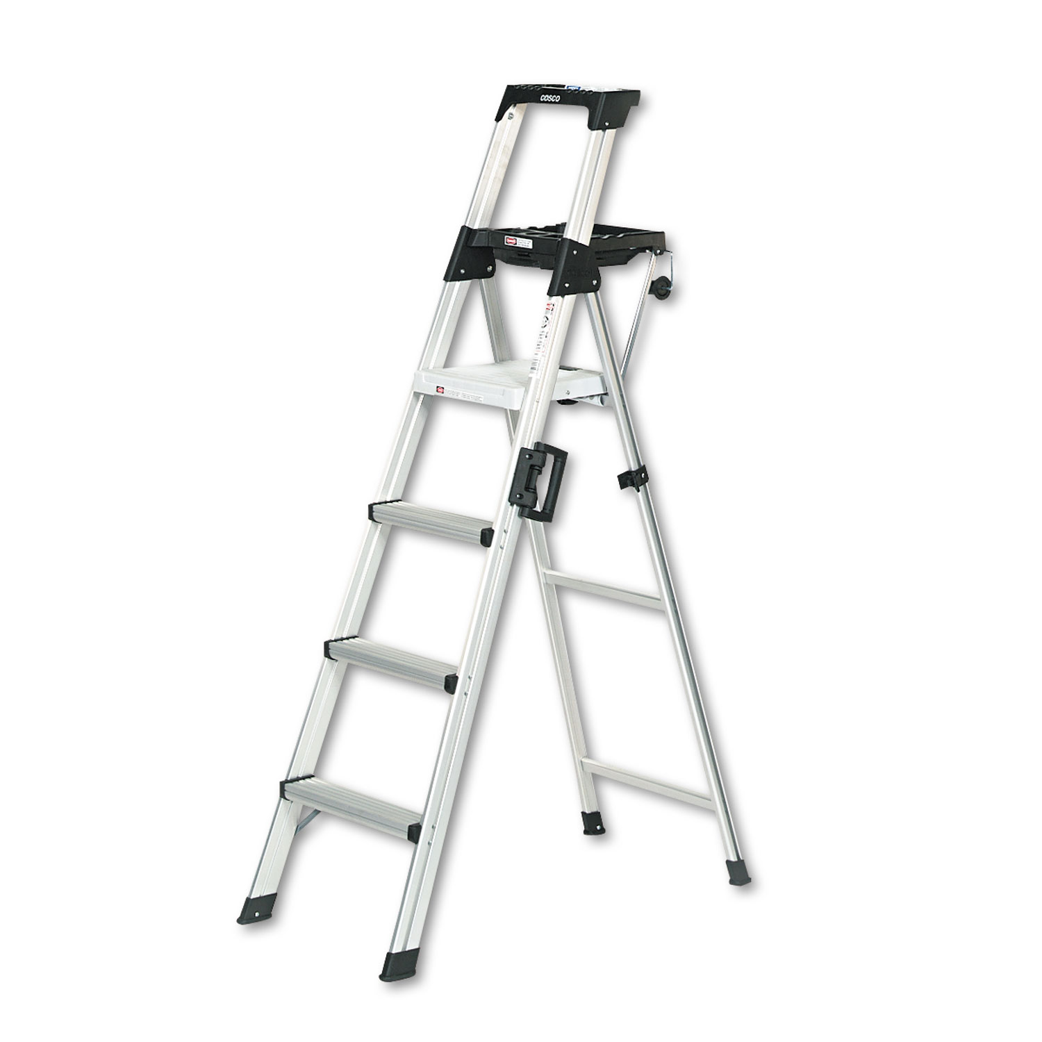 Signature Series Aluminum Folding Step Ladder W Leg Lock