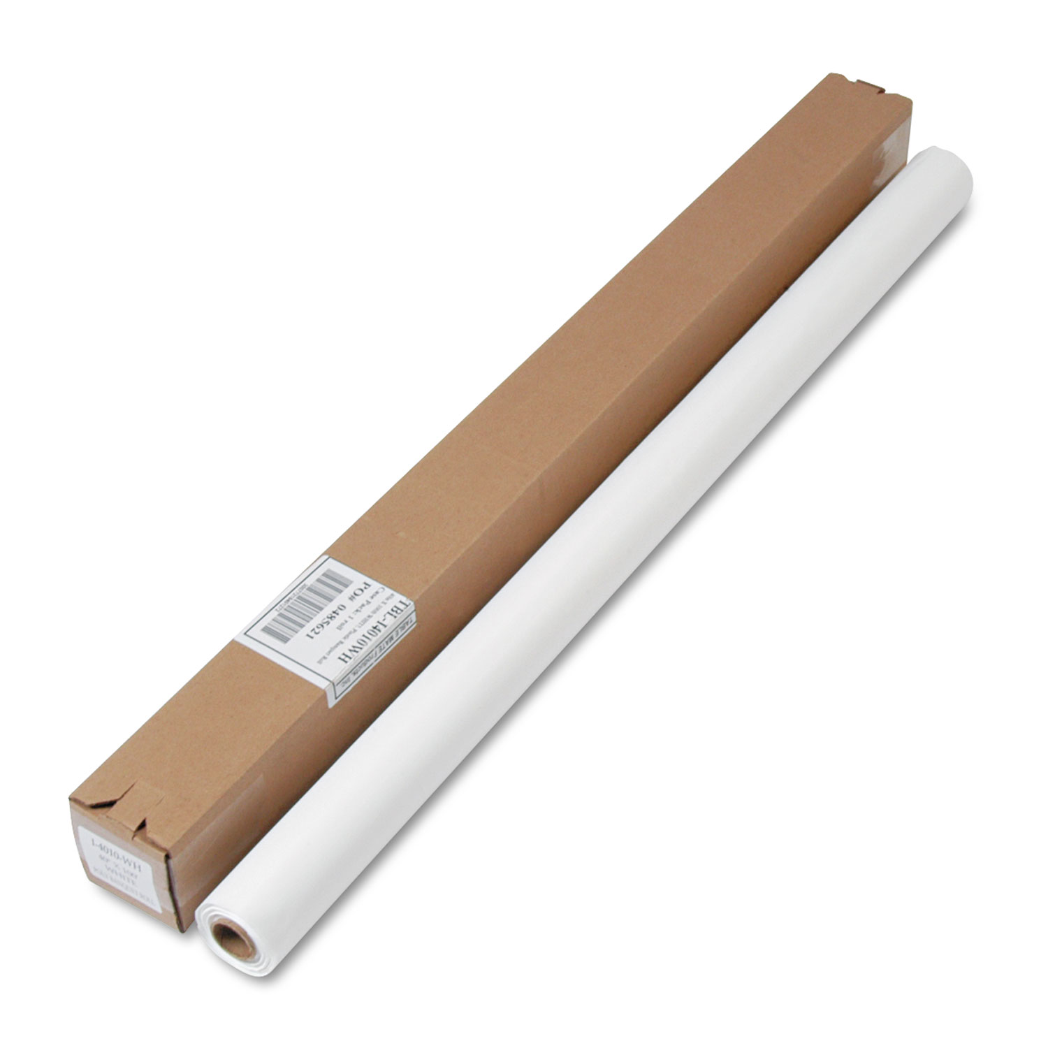 """Table Set Plastic Banquet Roll, Table Cover, 40"""" x 100ft, White"""