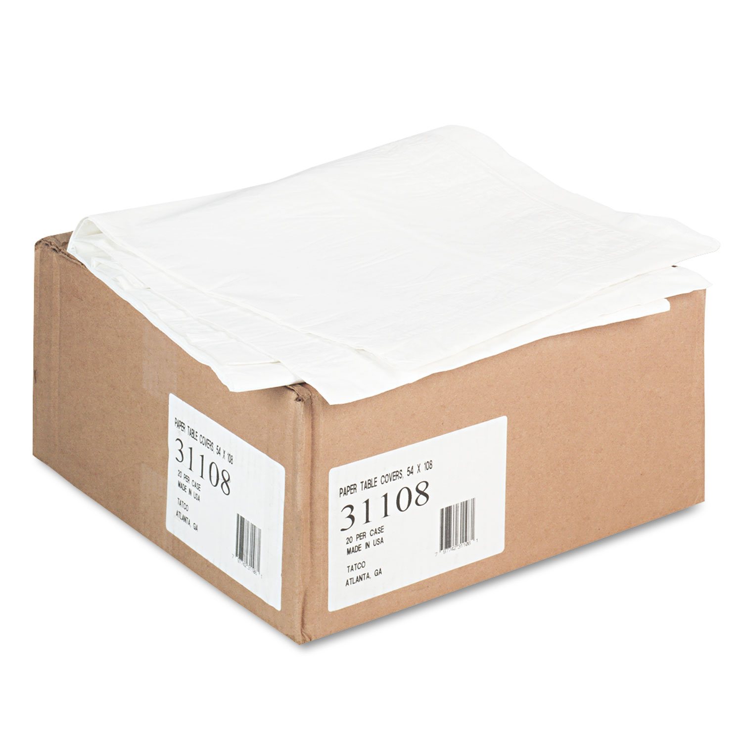 Tco31108 Tatco Paper Table Cover Zuma