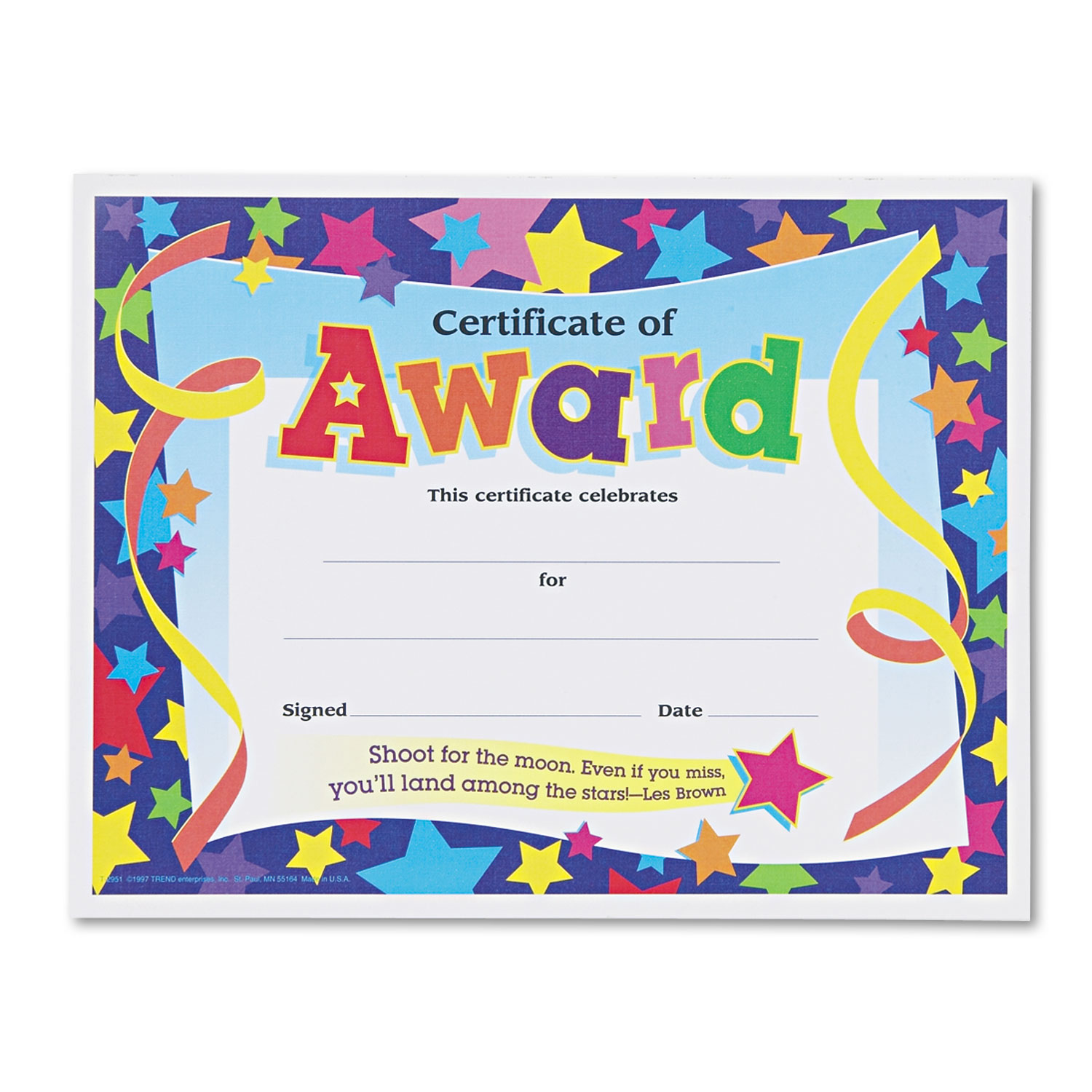 order colorful classic certificates and other awards certificates