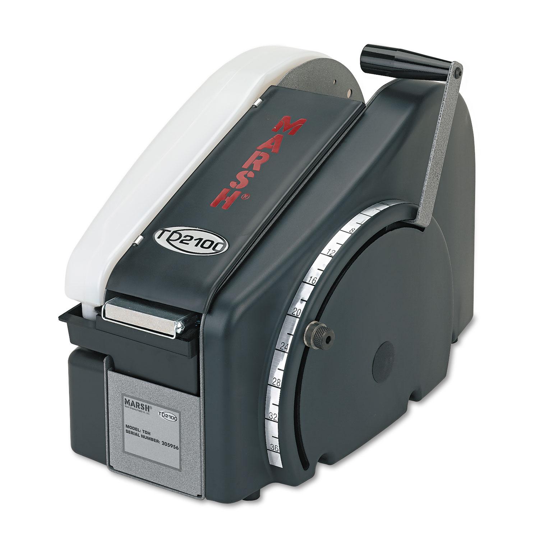 Manual Tape Dispenser For Gummed Tape w/48oz Reservoir, Steel Blades, Black