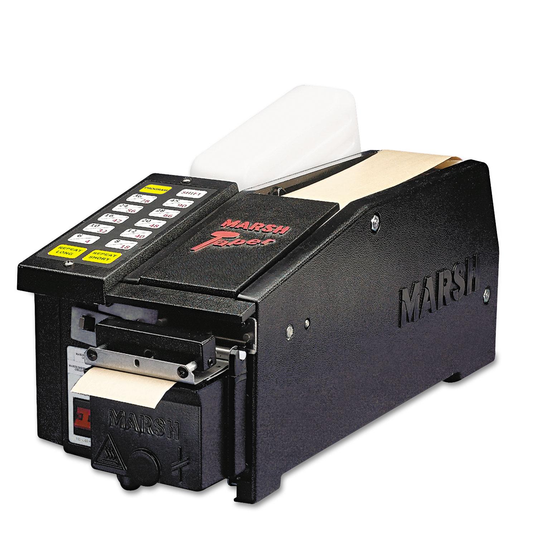 Electric Tape Dispenser For Gummed Tape w/48oz reservoir, Steel Blades, Black