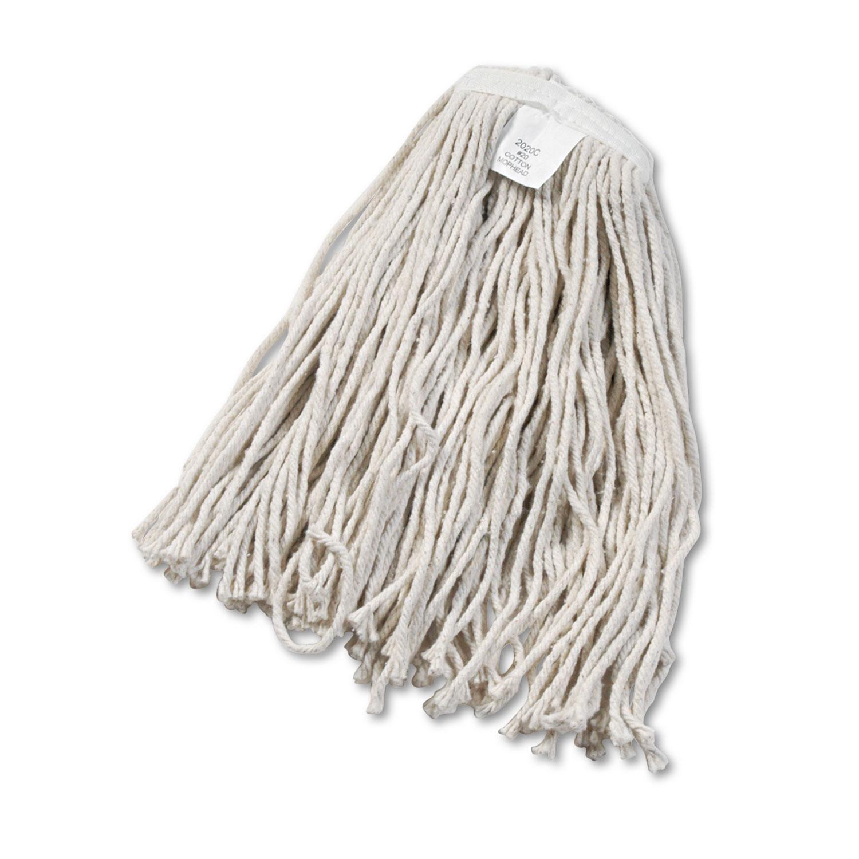 Cut-End Wet Mop Head, Cotton, No. 20, White
