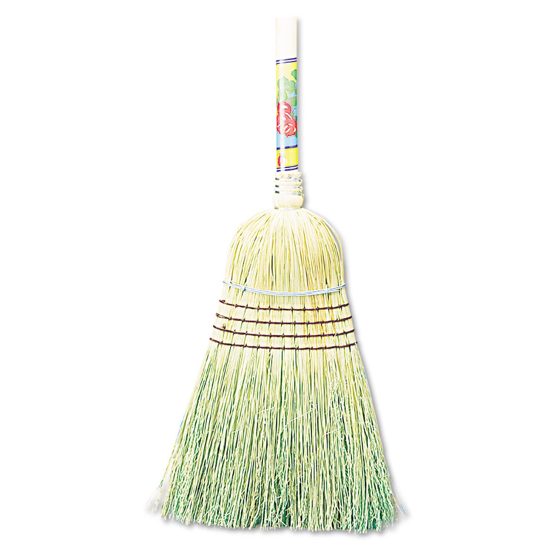 "Warehouse Broom, Corn Fiber Bristles, 56"" Overall Length, Natural, 12/Carton"