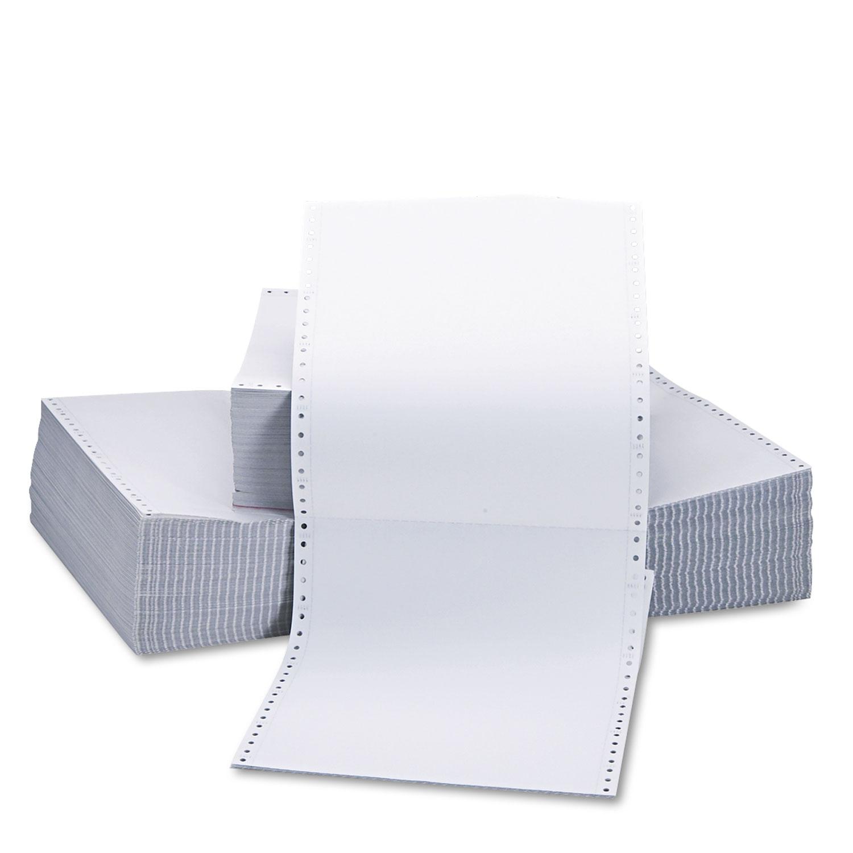 Printout Paper, 2-Part, 15lb, 9.5 x 11, White, 1, 650/Carton