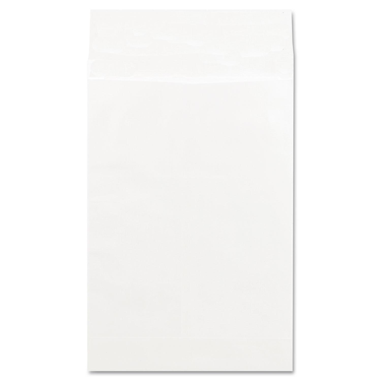Deluxe Tyvek Expansion Envelopes, #15 1/2, Squa Flap, Self-Adhesive Closure, 12 x 16, White, 100/Box