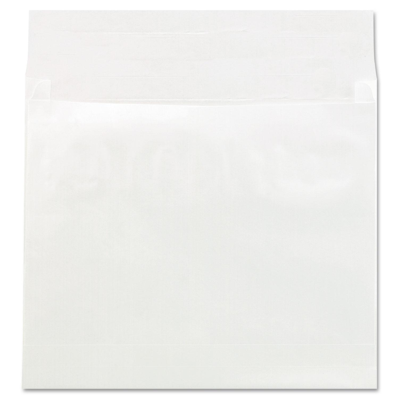 Deluxe Tyvek Expansion Envelopes, Square Flap, Self-Adhesive Closure, 14 x 16, White, 50/Carton