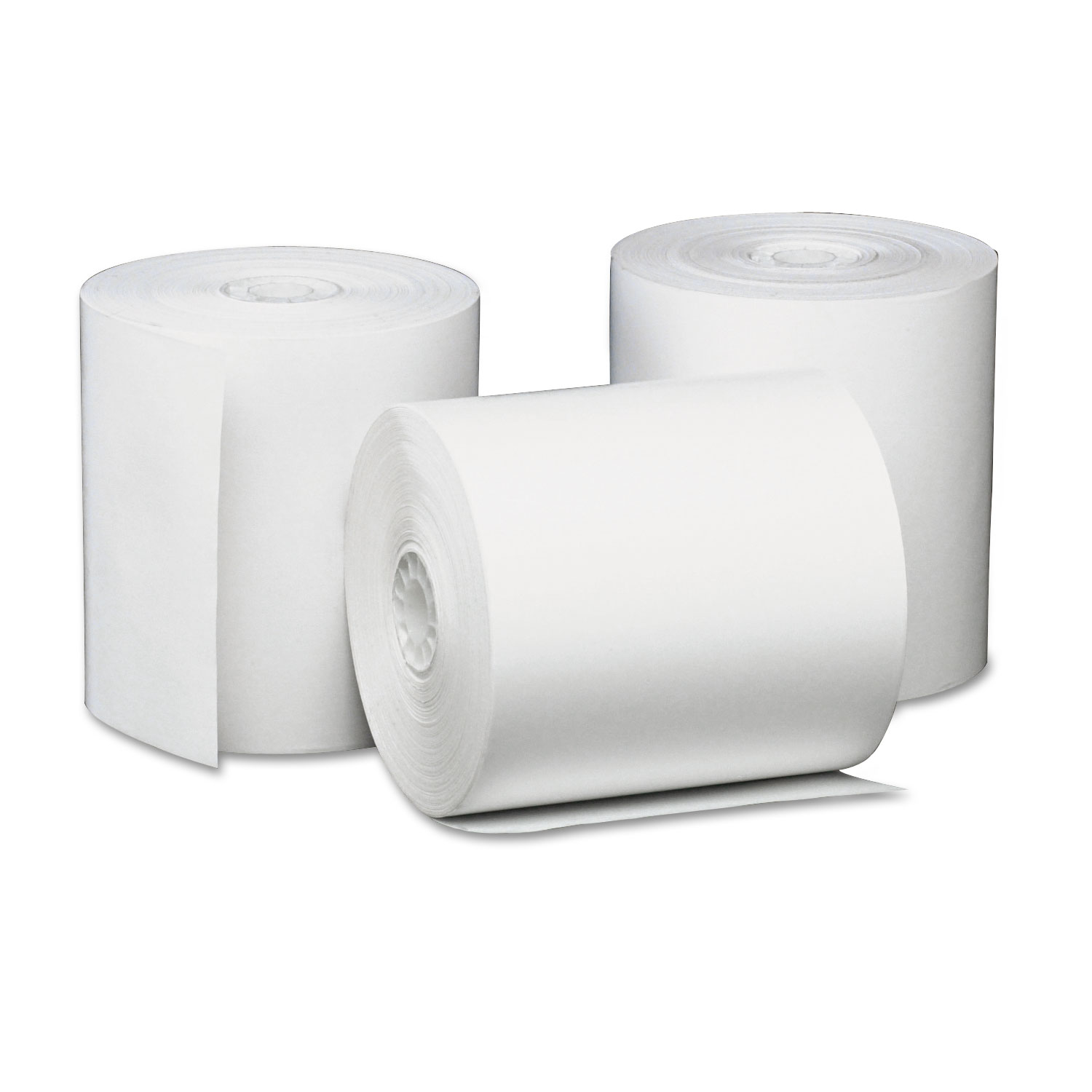 "Direct Thermal Printing Paper Rolls, 3.13"" x 230 ft, White, 50/Carton"