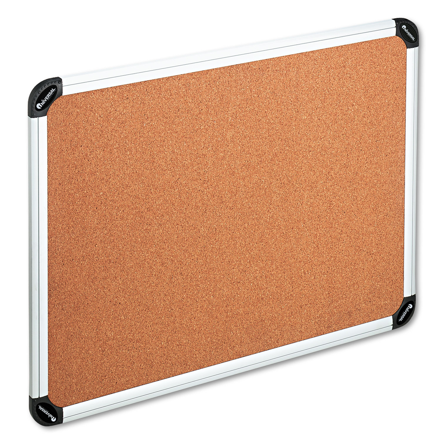 Cork Board With Aluminum Frame 48 X 36 Natural Silver