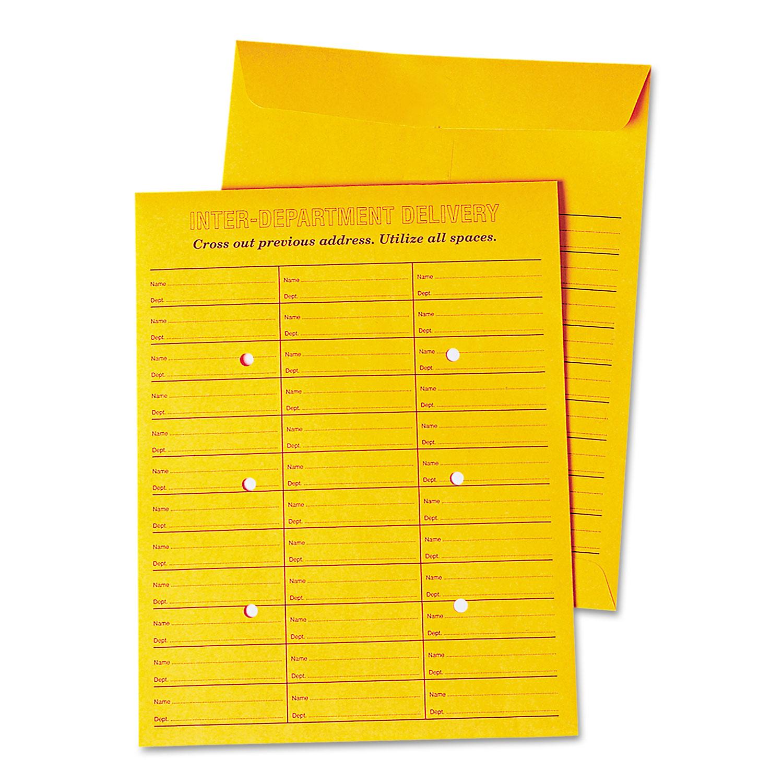 Interoffice Press & Seal Envelope, 10 X 13, Brown, 100/Box