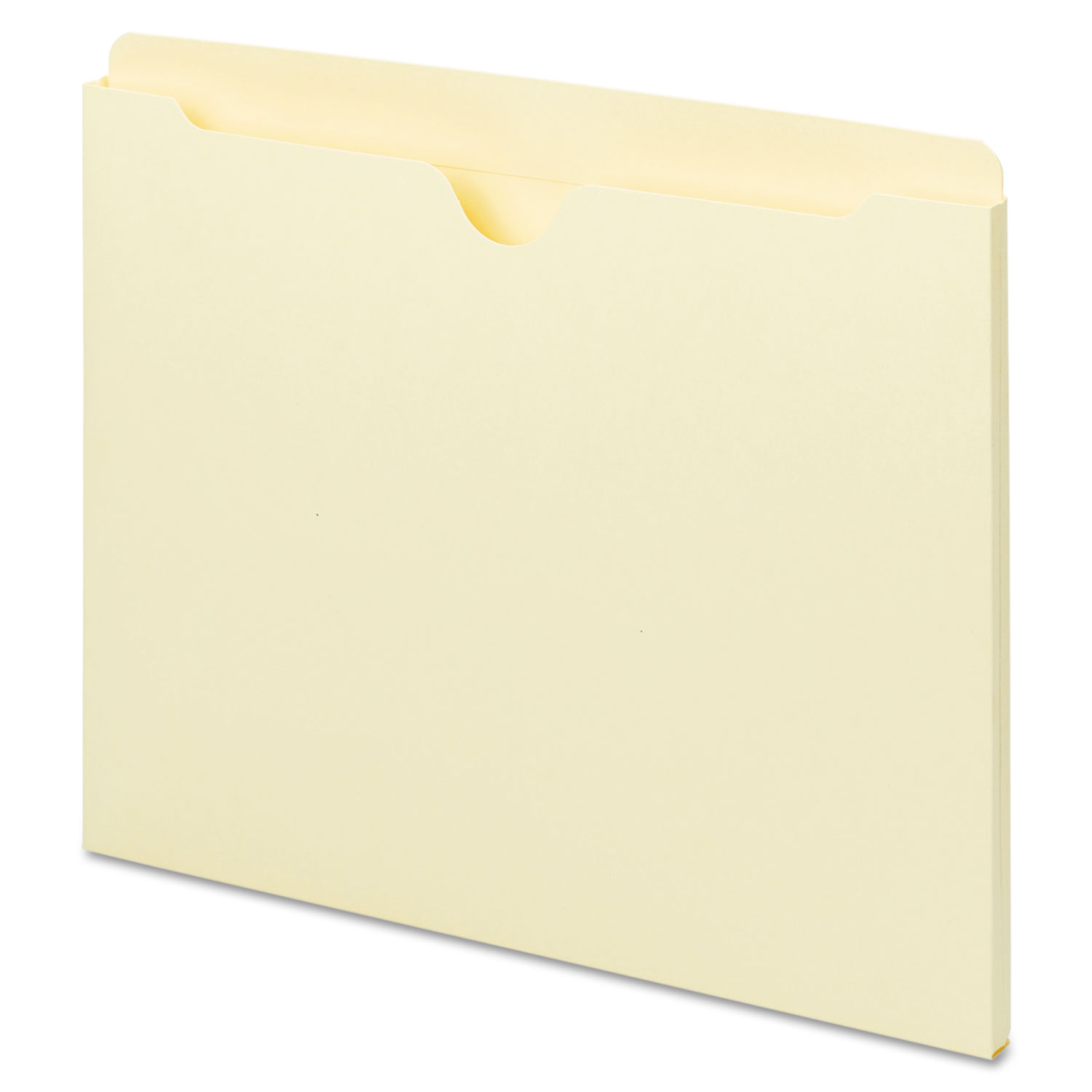 Deluxe Manila File Jackets with Reinforced Tabs, Straight Tab, Letter Size, Manila, 100/Box