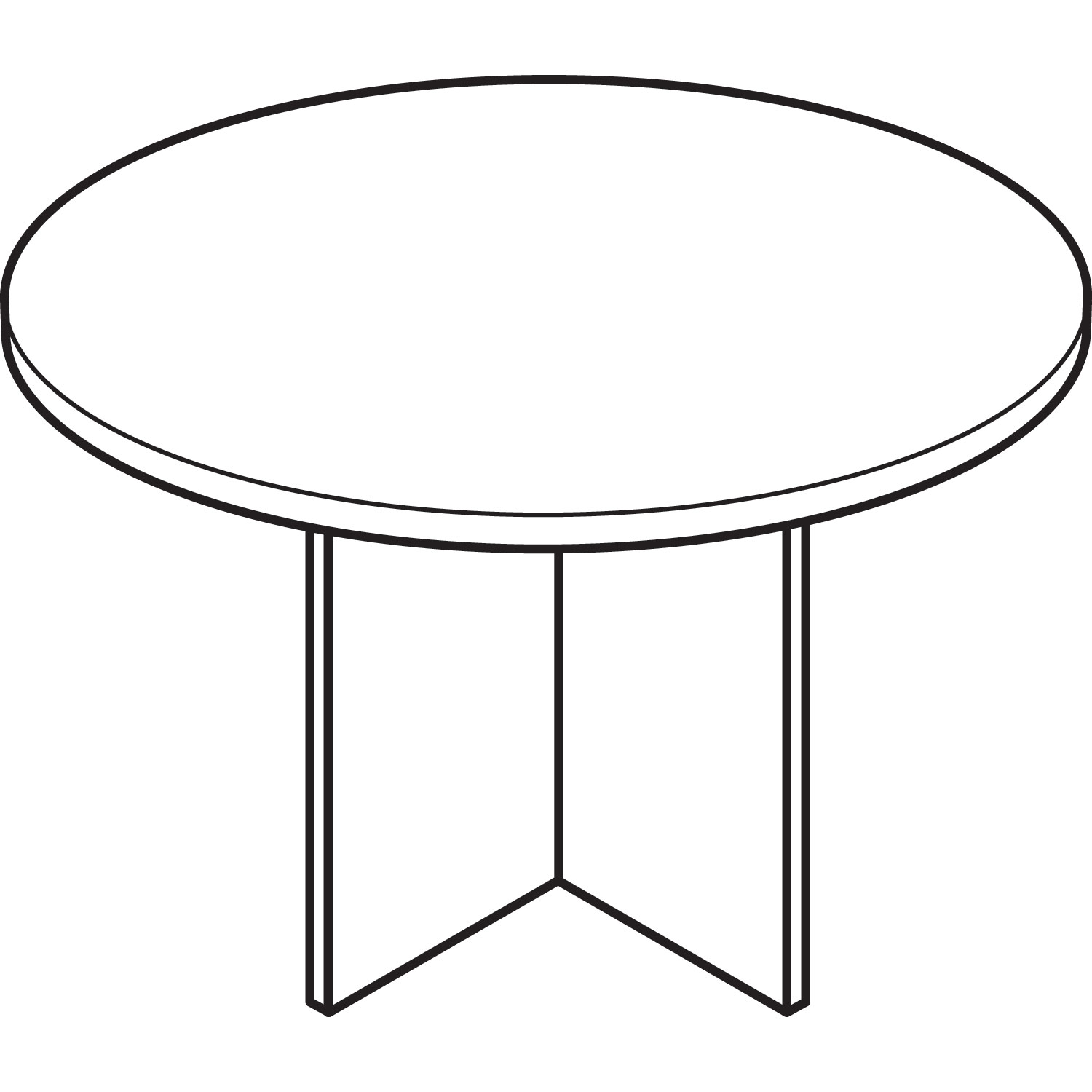 BL Laminate Series Round Conference Table By HON BSXBLCDNN - Hon round conference table