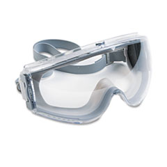 Honeywell Uvex™ Stealth Antifog, Antiscratch, Antistatic Goggles, Clear Lens, Gray Frame