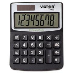 Victor® 1000 Minidesk Calculator, Solar/Battery, 8-Digit LCD