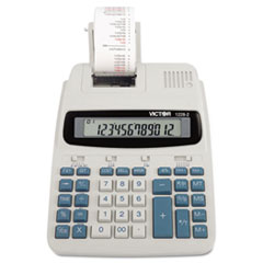 Victor® 1228-2 Two-Color Roller Printing Calculator, Black/Red Print, 2.7 Lines/Sec