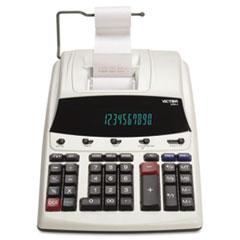 Victor® 1230-4 Fluorescent Display Printing Calculator, Black/Red Print, 3 Lines/Sec