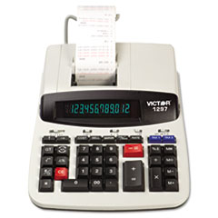 Victor® 1297 Two-Color Commercial Printing Calculator, Black/Red Print, 4 Lines/Sec