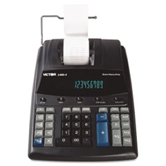 Victor® 1460-4 Extra Heavy-Duty Printing Calculator, Black/Red Print, 4.6 Lines/Sec