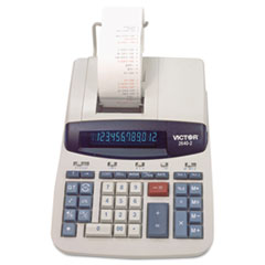 Victor® 2640-2 Two-Color Printing Calculator, Black/Red Print, 4.6 Lines/Sec