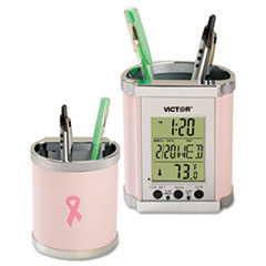 Win a Victor® Pink Ribbon Pencil Cup with Display