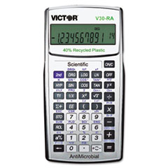 Victor® V30RA Scientific Recycled Calculator w/Antimicrobial Protection