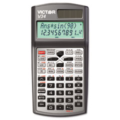Victor® V34 Advanced Scientific Calculator, 10-Digit LCD