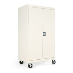 Alera® Assembled Mobile Storage Cabinet, w/Adjustable Shelves 36w x 24d x 66h, Putty