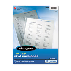 Wilson Jones® Top-Loading Envelope Pouches, Nonglare Finish, 9 x 12, 10/Pack